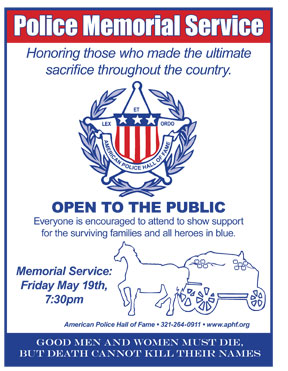 American Police Hall of Fame Police Memorial Service