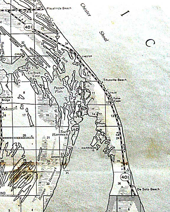1952 Maps Of Nasa Area Near Titusville Florida