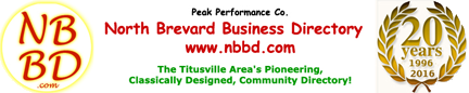 To the North Brevard Business & Community Directory homepage.
