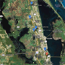 Location of Sanctuaries in North Brevard Florida