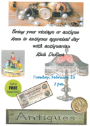 Antiques appraisal at Titusville Library