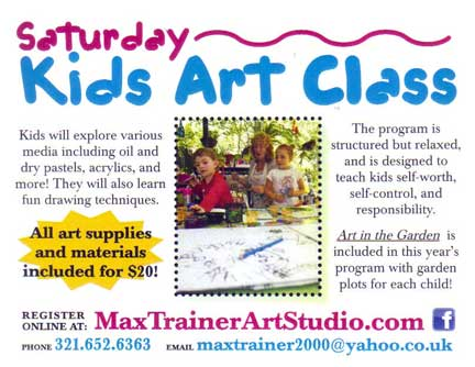 The stonefire art gallery studios in titusville florida for Art and craft classes for kids
