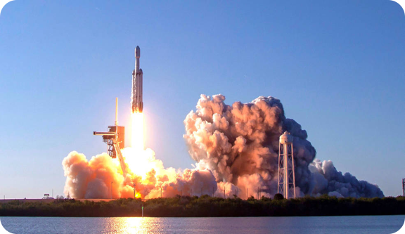 SpaceX with launch facilities in Titusville Florida
